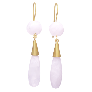 earrings for women moonstone and yellow gold