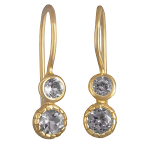 earrings for women crystal and yellow gold