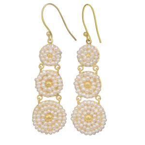 earrings for women freshwater pearls and yellow gold