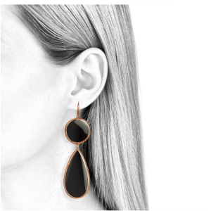 dangling earrings for women black onyx