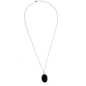 pendant necklace for women black onyx and rose gold chain